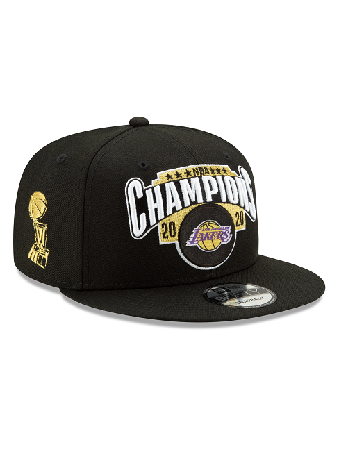 New Era Los Angeles Lakers 2020 NBA Finals Locker Room Champions Hat 950 Snapback Cap