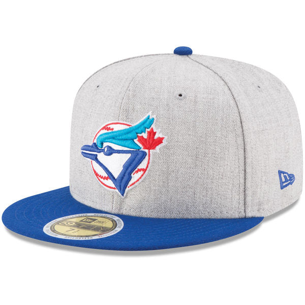 Men's Toronto Blue Jays New Era Heather Gray Royal Heather Hit 59FIFTY Fitted Cap