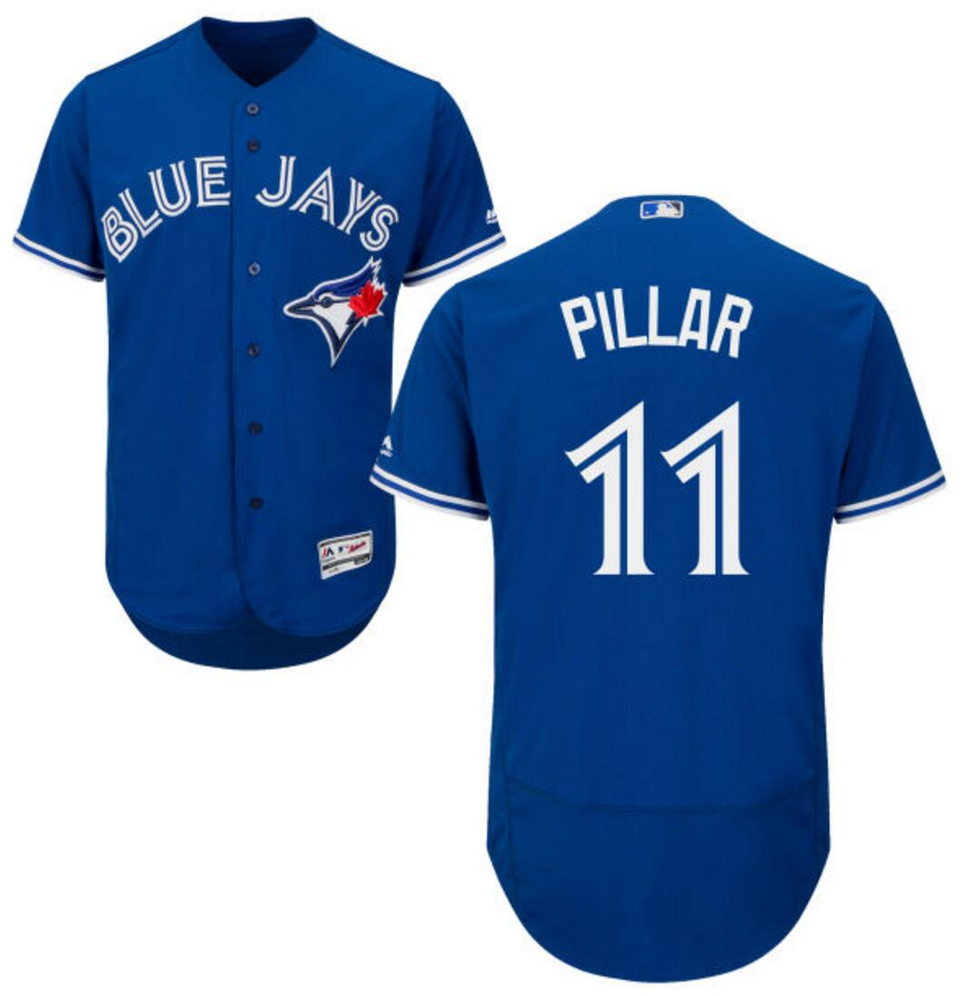 Toronto Blue Jays Cool Base Replica Men's Kevin Pillar Alternate Jersey by Majestic