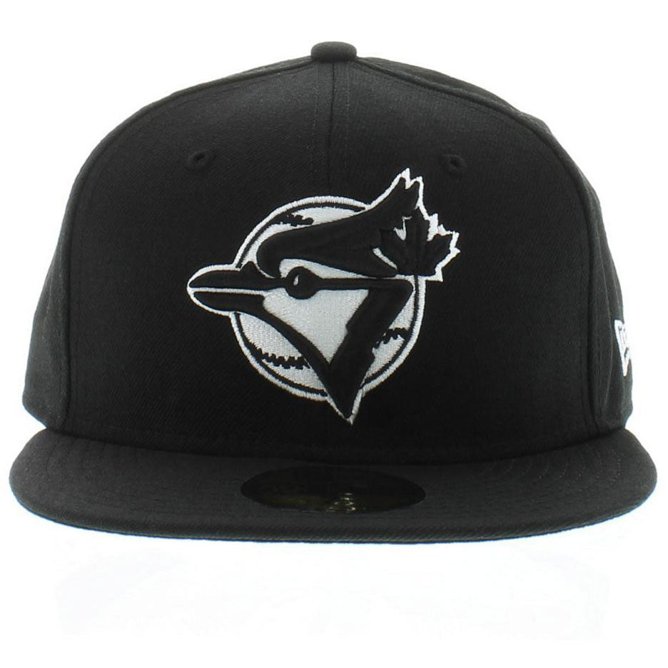 Toronto Blue Jays Cooperstown New Era Black/White 59fifty Fitted Cap