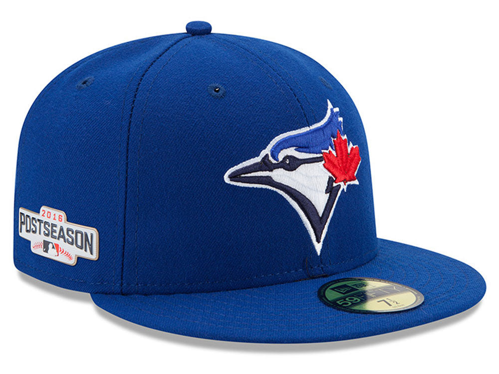 Toronto Blue Jays New Era MLB 2016 Post Season Authentic Collection Patch Fitted 59FIFTY Cap