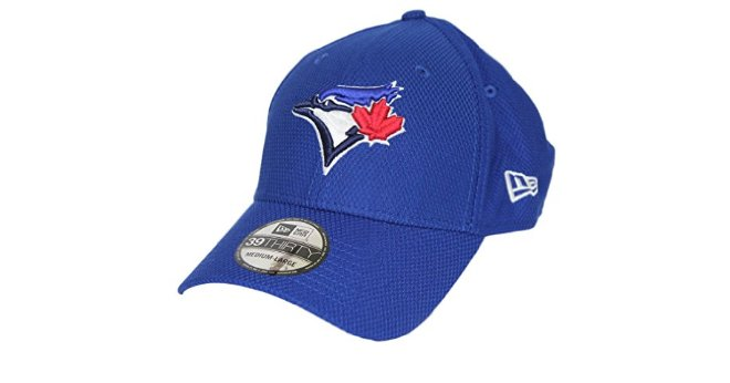 Toronto Blue Jays New Era MLB 39THIRTY Diamond Era Classic Royal Performance Stretch Flex Cap