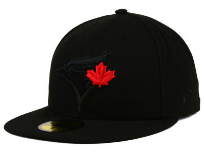 d9a7d5520 Toronto Blue Jays New Era MLB Black on Black 59FIFTY Fitted Cap ...
