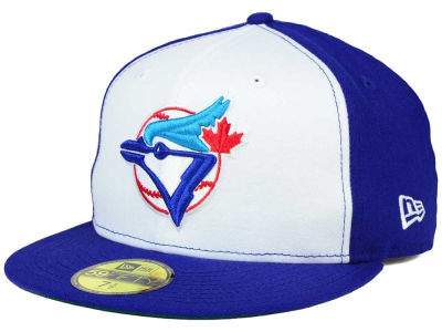 Toronto Blue Jays New Era MLB Cooperstown White Royal Blue 59FIFTY Fitted Cap