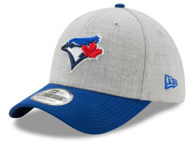 Toronto Blue Jays New Era MLB Heather Gray/Royal Classic 39THIRTY Stretch Flex Cap