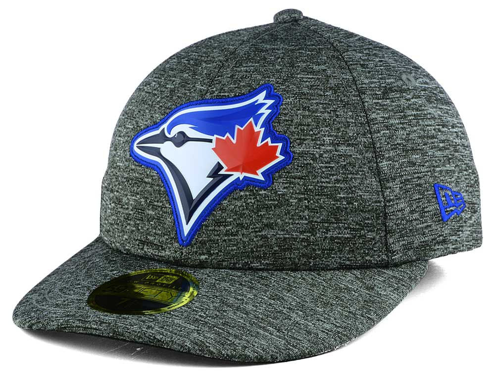 Toronto Blue Jays New Era MLB Low Profile Heather Gray Bevel Team 59FIFTY Fitted Cap