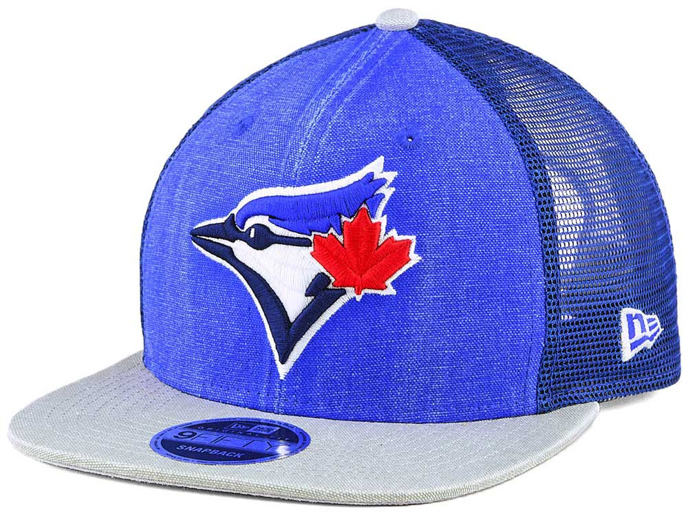 Toronto Blue Jays New Era MLB Rugged Blue Trucker 9FIFTY Snapback Cap