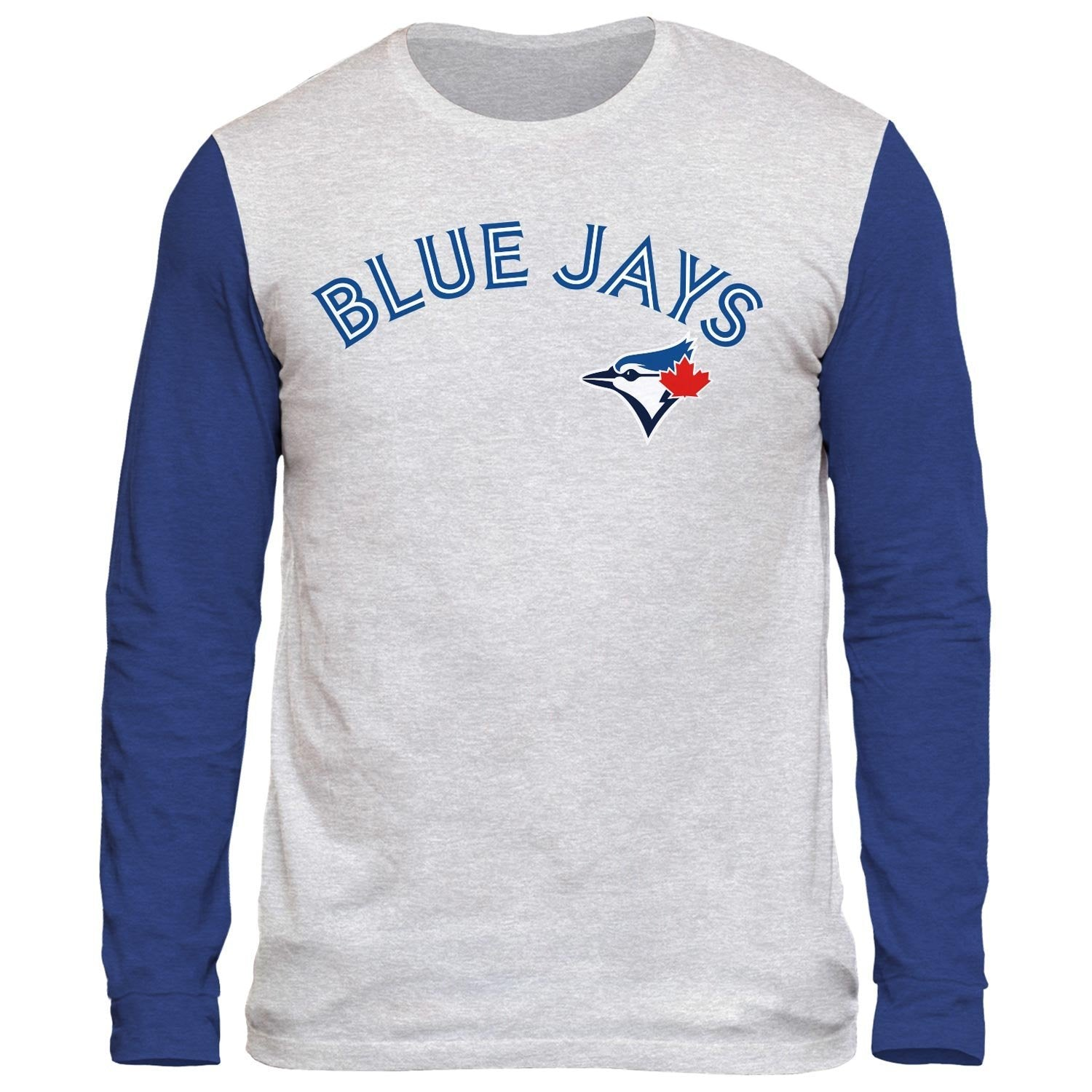 Toronto Blue Jays Shortstop Tri-Blend Long Sleeve T-Shirt Raglan 3-Quarter Tee