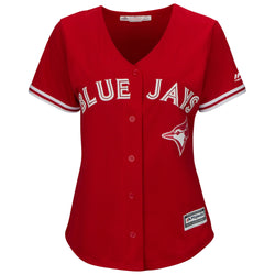 Toronto Blue Jays Women's Cool Base Replica Alternate Red Jersey by Majestic