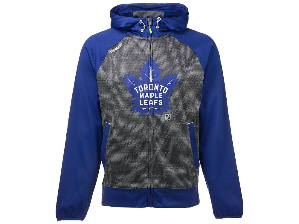 Toronto Maple Leafs Reebok NHL Men's Center Ice TNT Full Zip Hoodie Sweater
