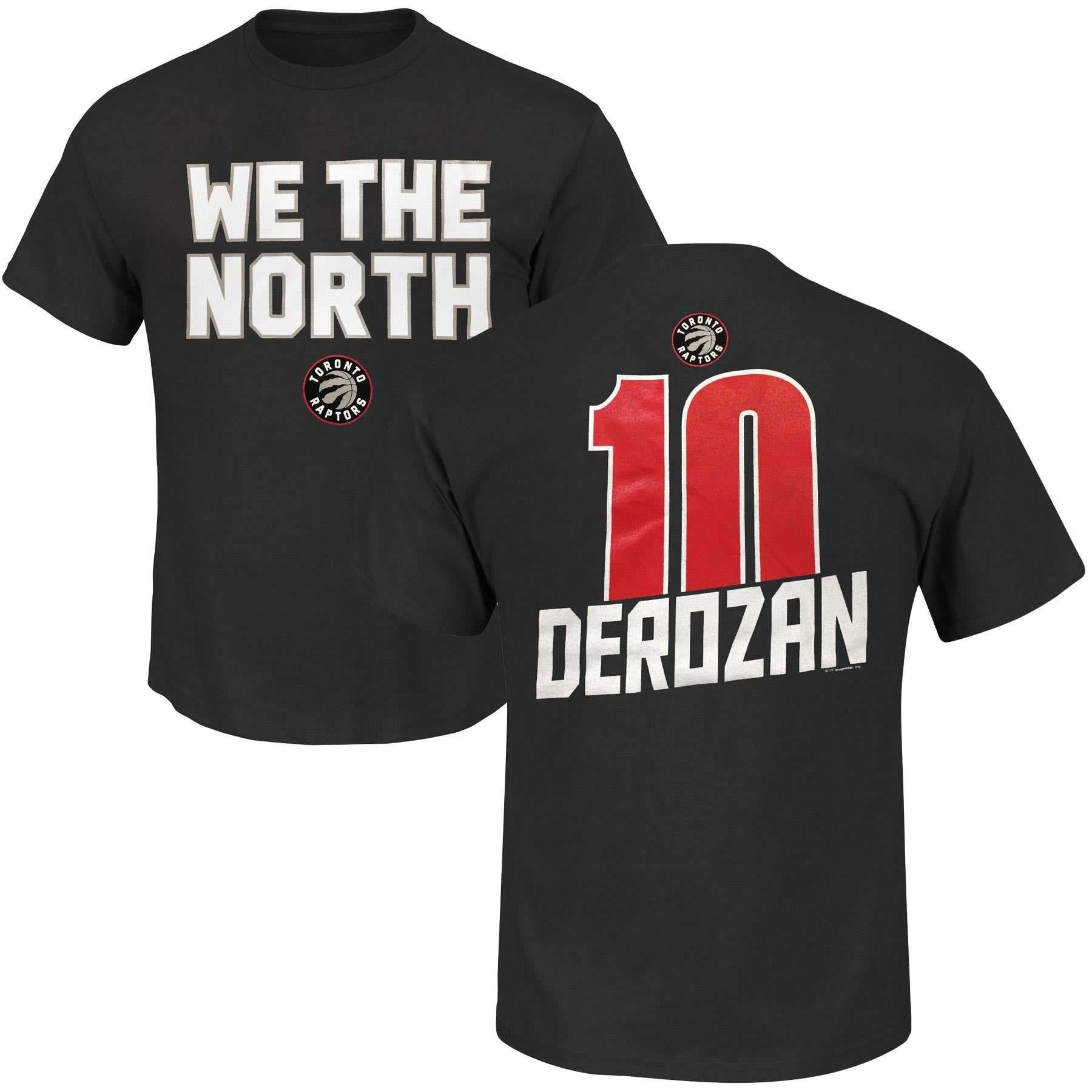 Toronto Raptors DeMar DeRozan NBA We The North Mens T-Shirt by Majestic