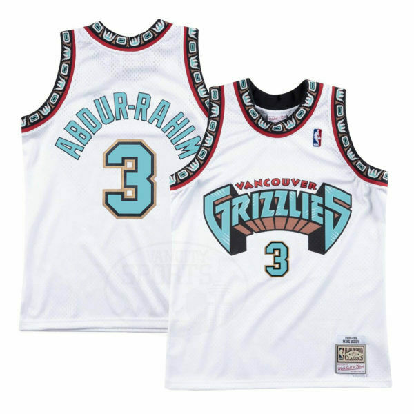 Shareef Abdur-Rahim Vancouver Grizzlies White NBA Swingman Jersey By Mitchell and Ness