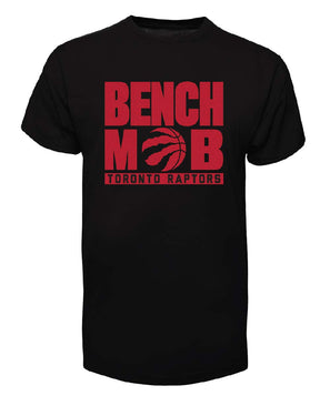 Toronto Raptors Fanatics Branded 2018 NBA Playoffs Bench Mob Slogan Black T-Shirt