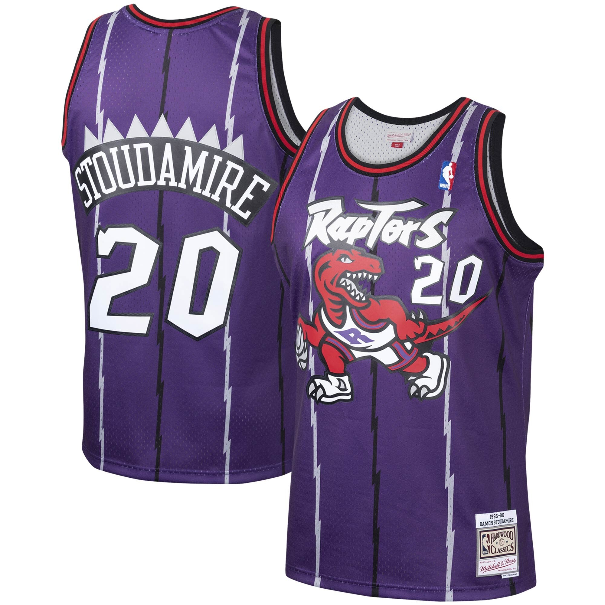 Damon Stoudamire Toronto Raptors Purple NBA Swingman Jersey by Mitchell & Ness