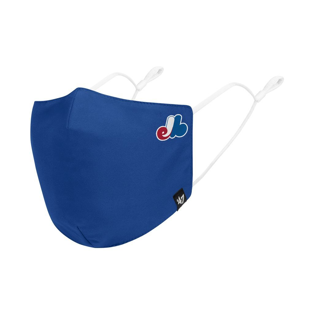 47 Brand Montreal Expos MLB Blue Spandex/Polyester Adjustable Breathable Washable Adult Face Mask