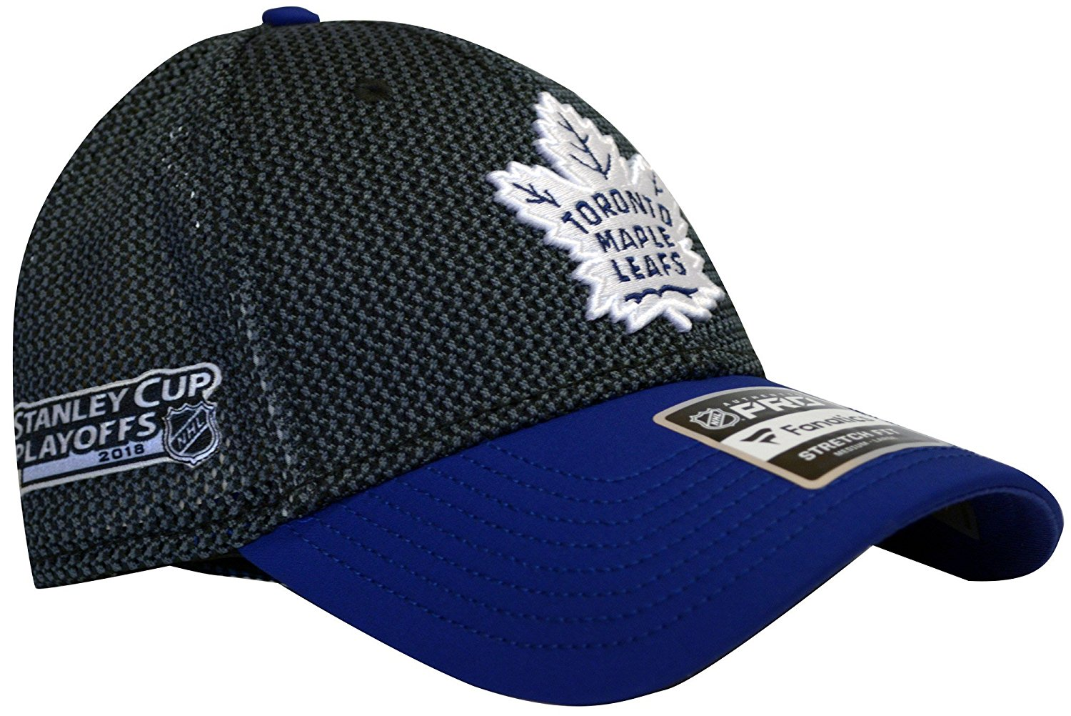 Fanatics Toronto Maple Leafs Pro NHL 2018 Stanley Cup Playoffs Flex Hat Cap