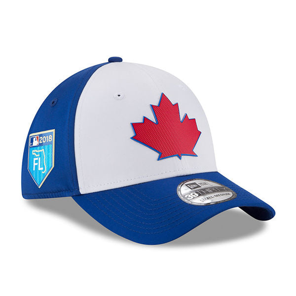 Toronto Blue Jays Authentic Collection Spring Training 2018 Stretch Fit Cap by New Era Royal Flex Fit With Patch