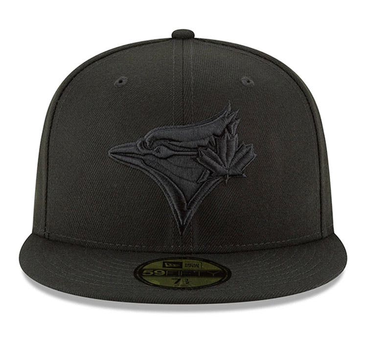 Toronto Blue Jays New Era 5950 Black on Black 59fifty Fitted Cap