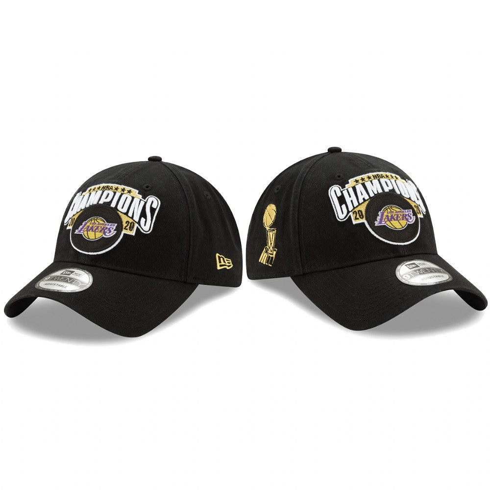 New Era Los Angeles Lakers 2020 NBA Finals Locker Room Champions Hat 920 Adjustable Cap