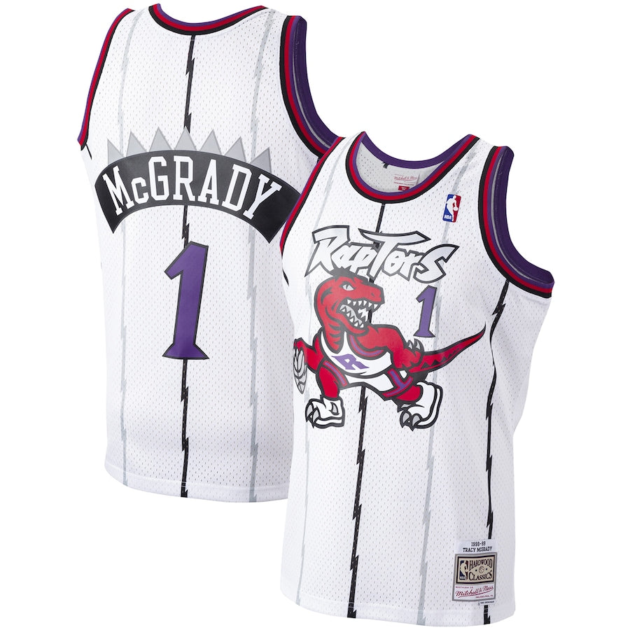 Tracy McGrady Toronto Raptors White NBA Swingman Jersey by Mitchell & Ness