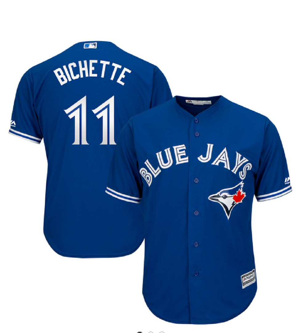 Toronto Blue Jays Cool Base Replica Men's Bo Bichette Alternate Jersey by Majestic