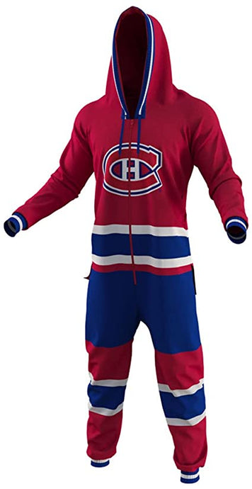 Montreal Canadiens NHL Fleece Onesie Unisex Bodysuit By Hockey Sockey
