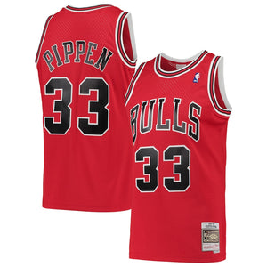 Scottie Pippen Chicago Bulls Red NBA Swingman Jersey by Mitchell & Ness