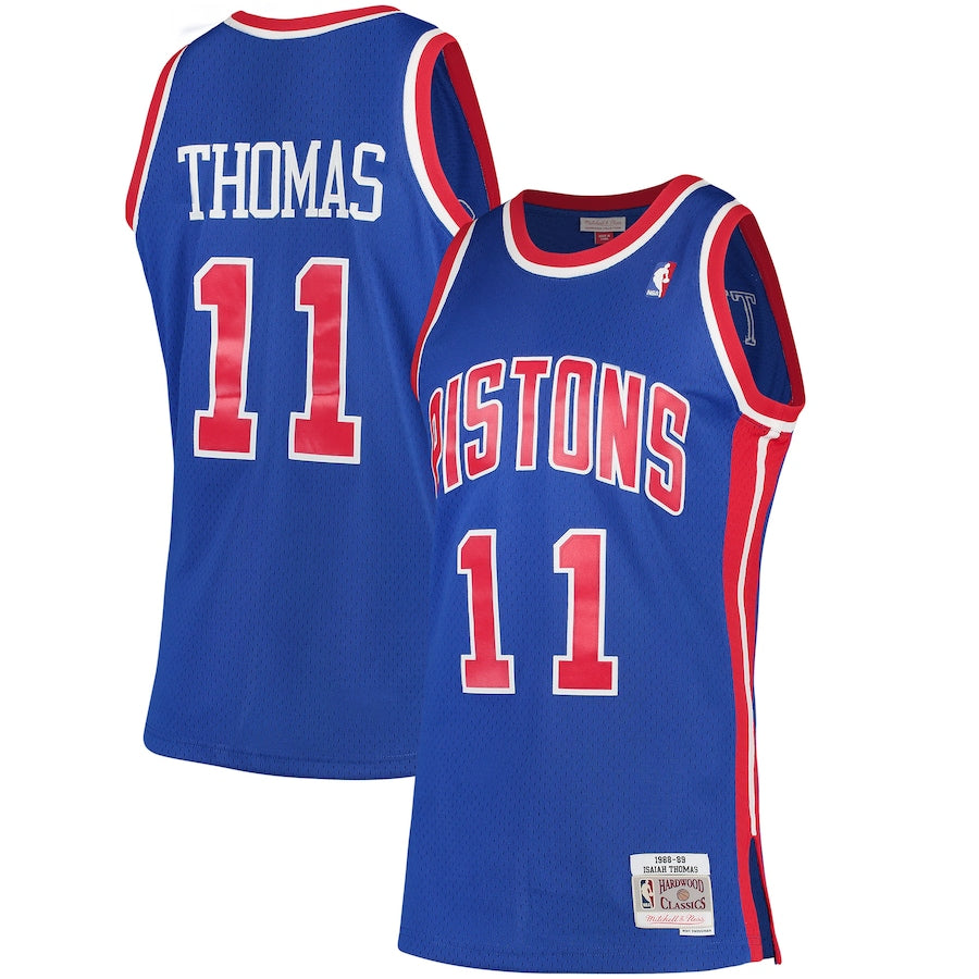 Isiah Thomas Detroit Pistons Blue NBA Swingman Jersey by Mitchell & Ness