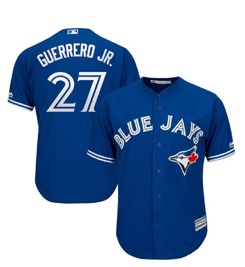 Toronto Blue Jays Cool Base Replica Men's Vladimir Guerrero Jr. Alternate Jersey by Majestic