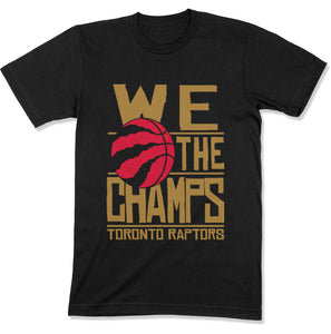 Toronto Raptors We The Champs 2019 NBA Champions Men's T-shirt