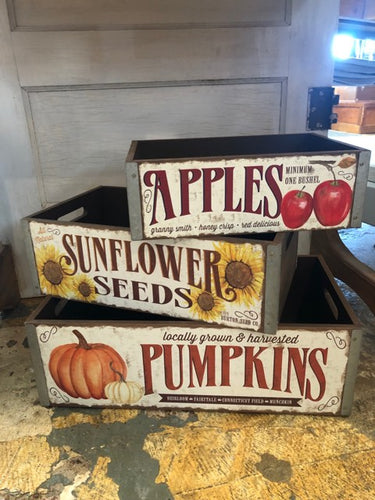 Fall Produce Crates