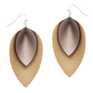 Leaves Of Fall Earrings, Pale Gold