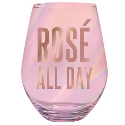 'Rose All Day' Wine Glass