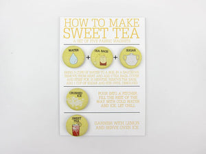 How To Make Sweet Tea Magnet Set