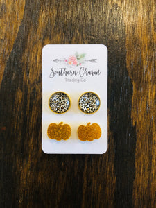 Pumpkin To Talk About Earring Set