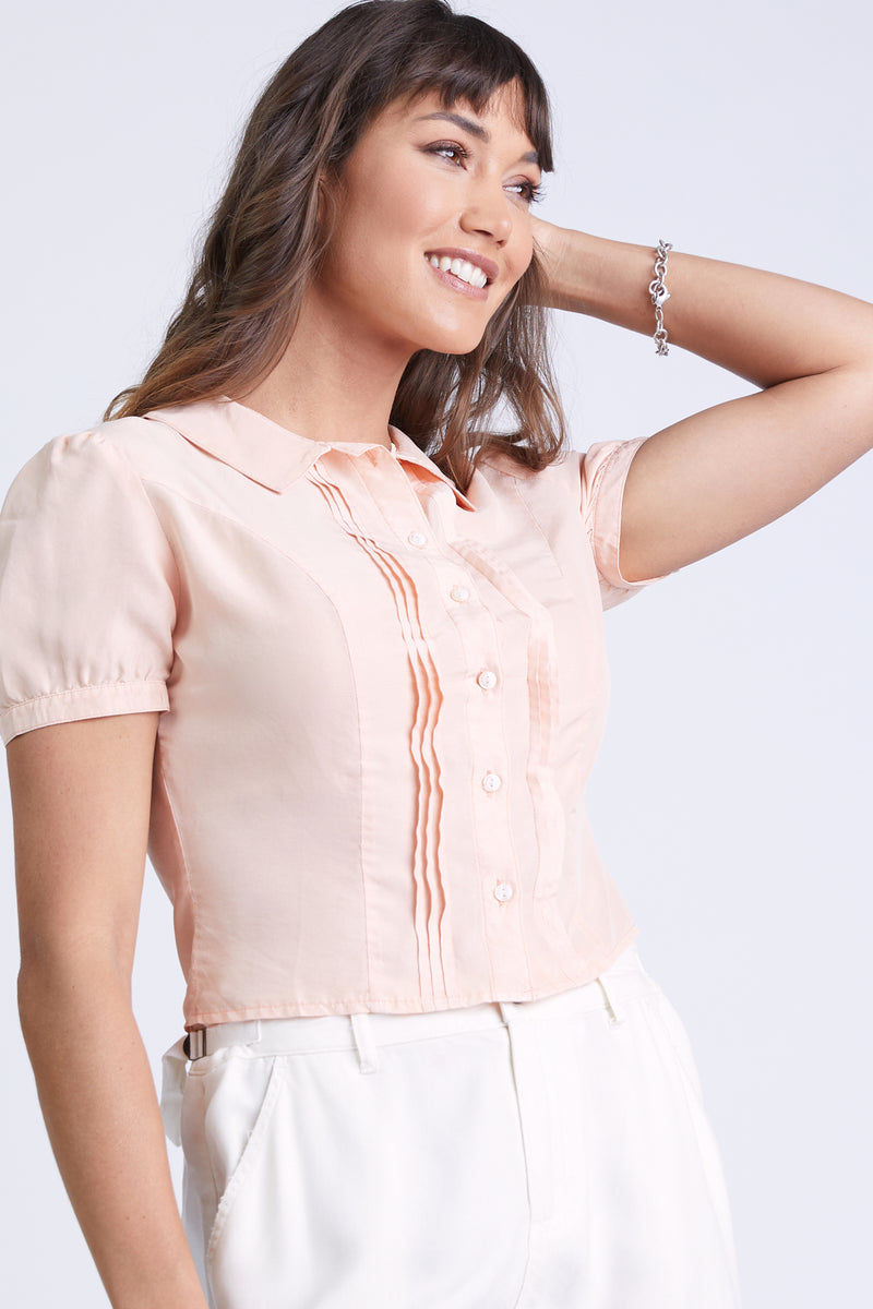 THE STELLA BLOUSE PINK SAND
