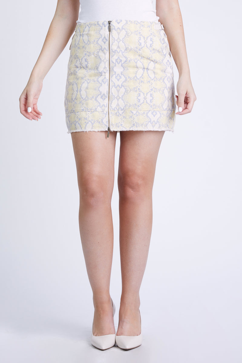 PARIS TWILL SKIRT - YELLOW SNAKE
