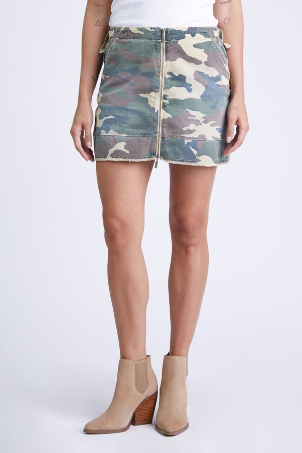 PARIS TWILL SKIRT - ARMY CAMO