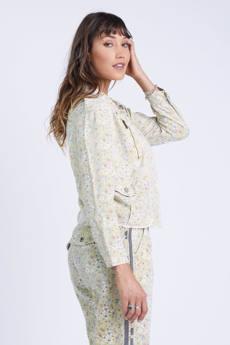 FESTIVAL JACKET - YELLOW DITSY FLOWERS