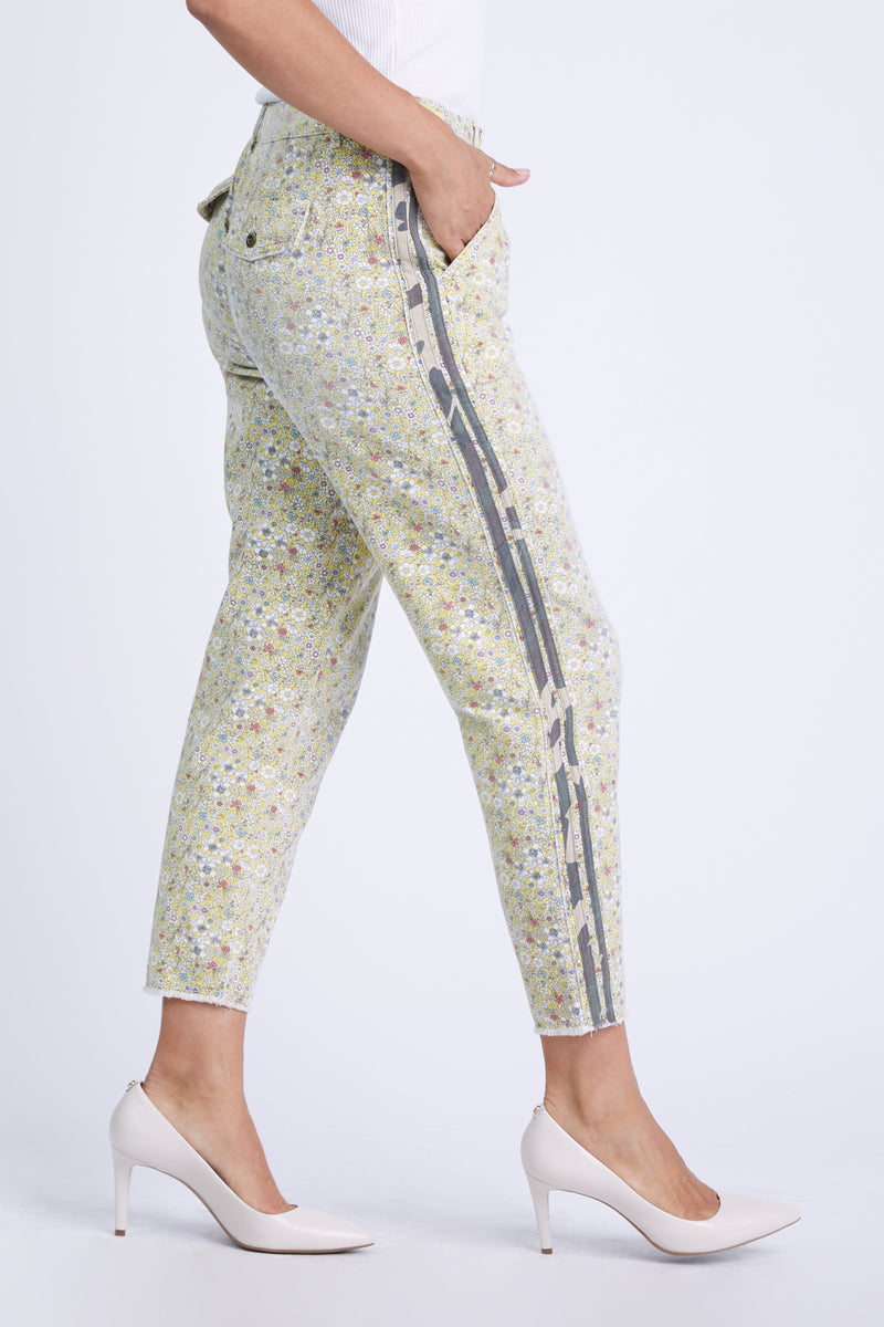 BERGMAN PANTS - YELLOW DITSY FLOWERS