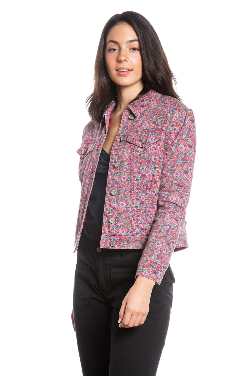 MONROE QUILTED JACKET - PURPLE DITSY