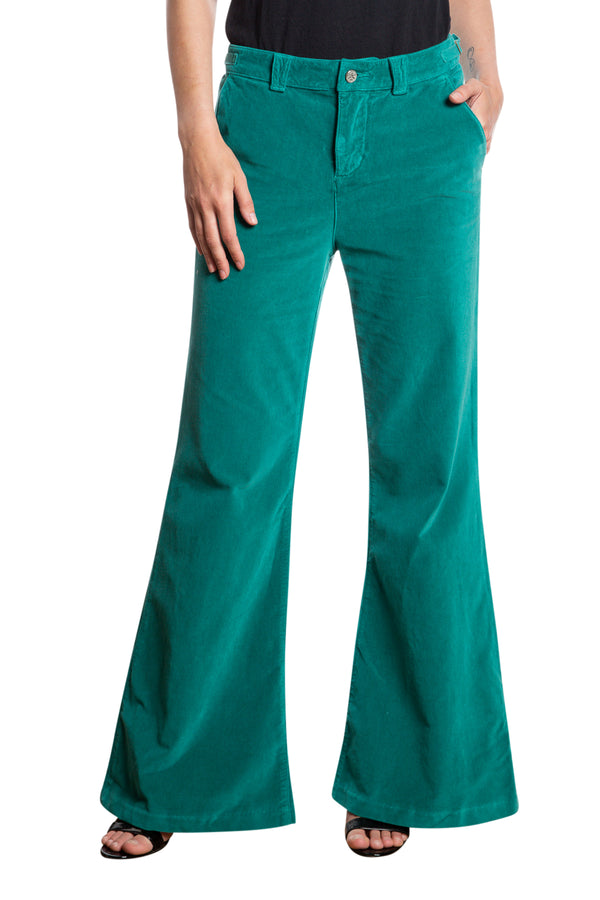BELL BOTTOM PANTS - EMERAL