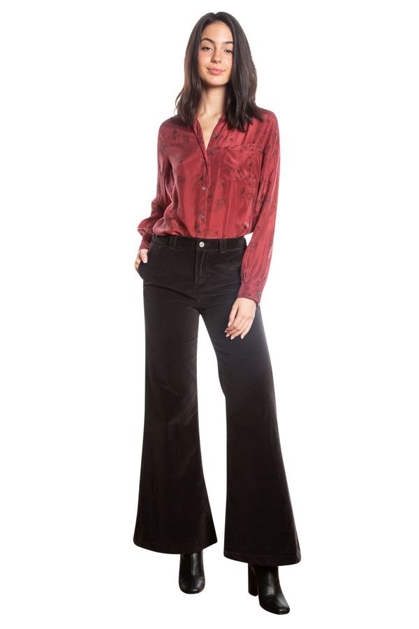 BELL BOTTOM PANTS - CAVIAR