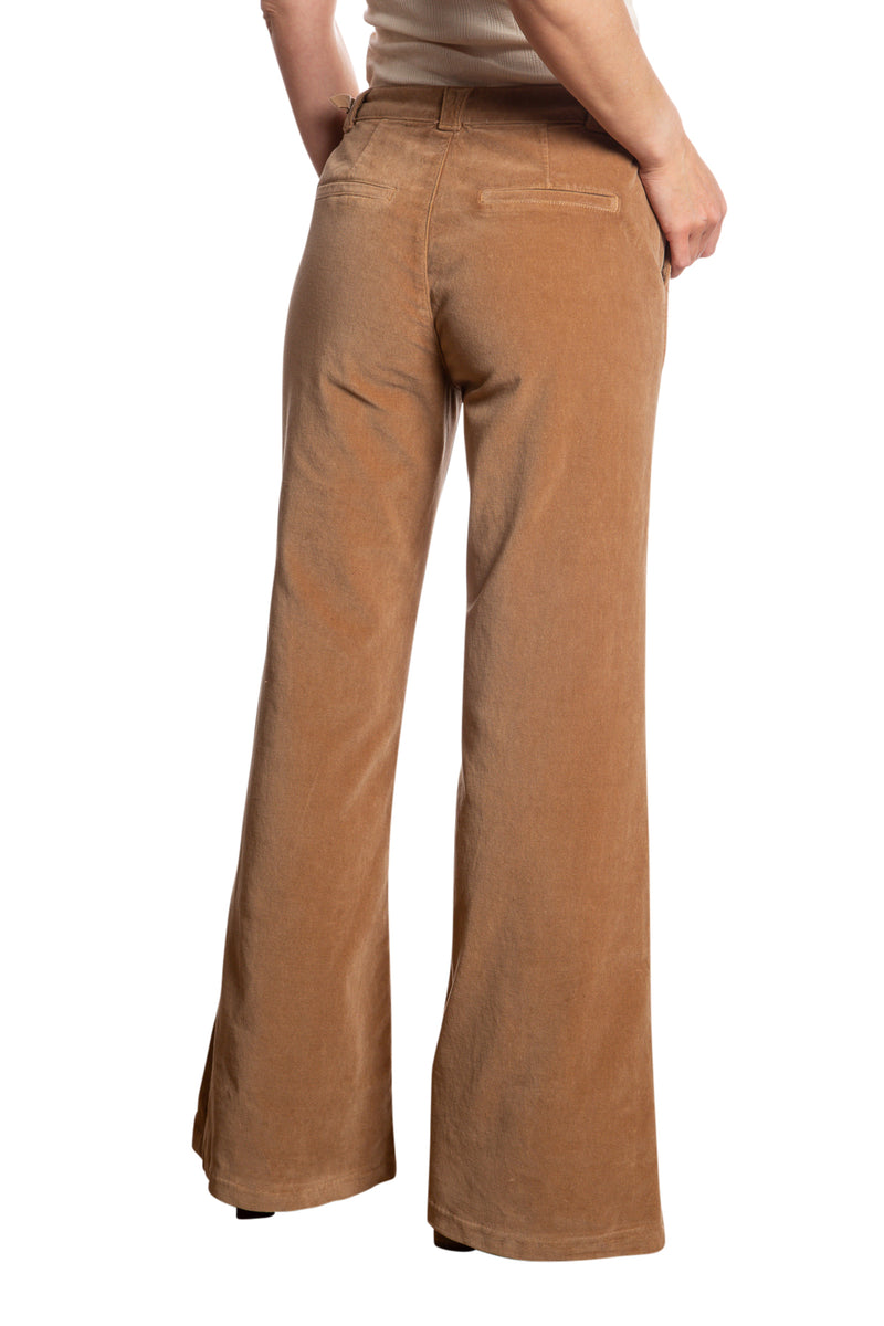 BELL BOTTOM PANTS - CAMEL
