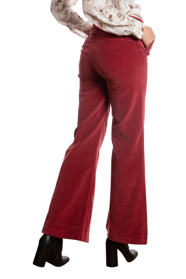 BELL BOTTOM PANTS - BRICK