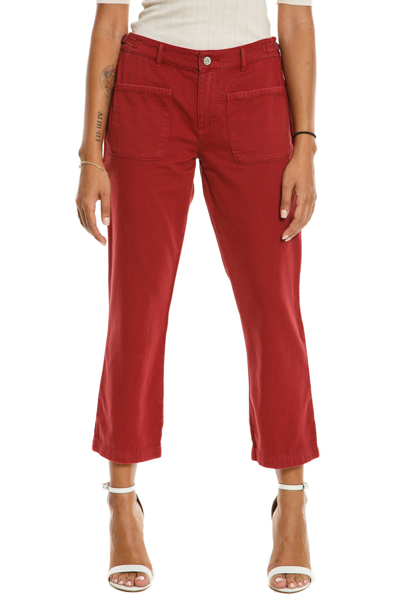 CHICAGO FLARE PANTS - BRICK