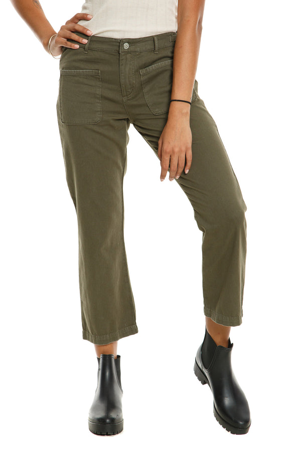 CHICAGO FLARE PANTS - OLIVE