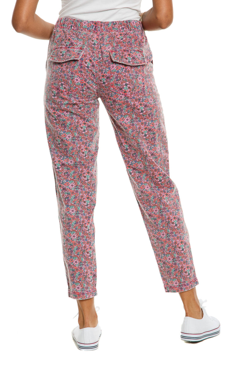 GLASTONBURY PANTS - PURPLE DITSY