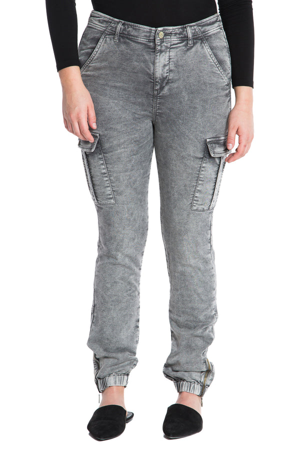 FRENCH TERRY MILITARY SKINNY - ASH - Da-Nang