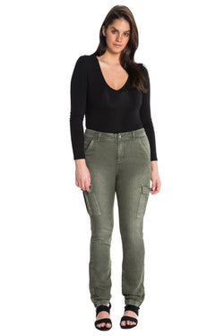 FRENCH TERRY MILITARY SKINNY - CLOVER - Da-Nang